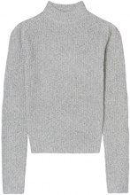 FIND Pullover a Coste con Collo Alto Donna, Grigio (Silver Grey), 48 (Taglia Produttore: X-Large)