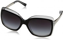 Michael Kors Key West 303311, Occhiali da Sole Donna, Nero (Black Crystal/Greygradient), 57