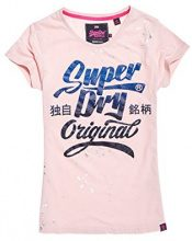 Superdry Originalbrandentrytee, T-Shirt Donna, Rosa (Blush Pink Men), X-Small (Taglia Produttore:8)