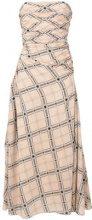 Fendi - strapless geometric printed dress - women - Silk/Viscose/Cotone - 44, 38 - Rosa & viola