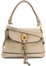 Chloé - Borsa a mano 'Owen' - women - Leather/Calf Leather - One Size - Grigio