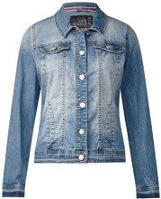 Cecil 210679 Charlotta, Giacca in Jeans Donna, Blu (Mid Blue Wash 10283), (Taglia produttore: S)