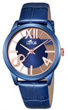 Orologio Da Donna Quarzo Lotus display Analogico cinturino Pelle Blu e quadrante Blu  18307/1