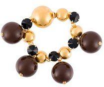 Marni - sphere bracelet - women - Brass/plastic/Crystal - OS - Metallizzato