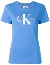 - Calvin Klein Jeans - T - shirt con logo - women - cotone - XS , S, M, L - di colore blu