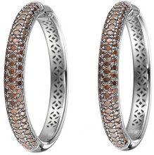 Esprit Collection - Orecchini a cerchio da donna con zirconia cubica, argento sterling 925, cod. ELCO90667D000