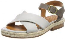 Chie Mihara Help, Sandali con Cinturino alla Caviglia Donna, Gris (Maitai Stone-Arles Grey1), 37 EU