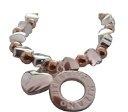 Bedazzled, Bracciale in argento e bronzo, con elastico e ciondolo a forma di cuore, in confezione regalo
