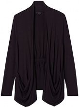 FIND Drawstring Back  Cardigan Donna, Nero (Black), 50 (Taglia Produttore: XX-Large)