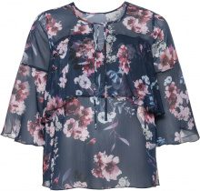 Blusa in chiffon con volants