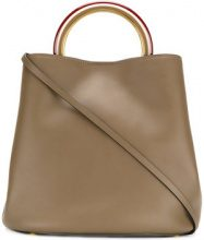 Marni - Pannier tote bag - women - Calf Leather/Brass - OS - Verde