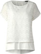 Street One 312135, T-Shirt Donna, Avorio (off White 10108), 50