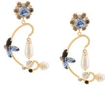 Erdem - Orecchini 'Floral Filigree' - women - plastic/metal/glass - OS - PINK & PURPLE