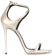 Giuseppe Zanotti Design - Sandali 'Darcie' con cinturini - women - Calf Leather/Leather - 35.5, 36, 36.5, 37, 37.5, 38, 38.5, 39 - Metallizzato