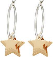 Orecchini stella in argento 925 bicolore