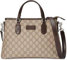 - Gucci - GG Supreme tote - women - Microfibre/Canvas/Leather - Taglia Unica - Marrone