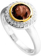 Diamonfire - Fancy Colors, Anello in argento 925 con zirconia 1.99 carati donna, 15