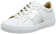Skechers Side Street-Banded, Sneaker Donna, Bianco (White/Silver), 38 EU