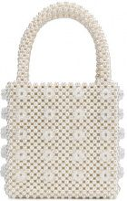 Shrimps - Borsa box con sfere applicate - women - Plastic/Acetate/Viscose - OS - WHITE