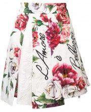 Dolce & Gabbana - peony print brocade skirt - women - Cotone/Silk/Viscose - 38, 40, 42, 44, 46 - Rosa & viola