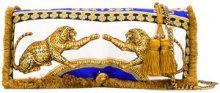 Versace - Clutch con stampa leopardata - women - Silk - OS - WHITE