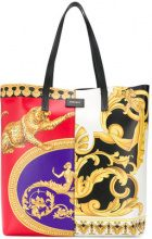 Versace - Pillow Talk-Barocco mix print tote bag - women - Calf Leather - OS - Nero