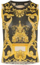 Versace - Barocco sleeveless knit top - women - Viscose/Polyester - 38, 40, 42, 44 - Nero