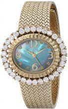Burgi'da donna, analogico, al quarzo, con orologio, Display, colore: oro