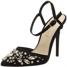 Office Horizon, Scarpe con Cinturino alla Caviglia Donna, Nero (Black 10000), 40 EU