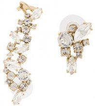 Marchesa Notte - crystal studded cuff earrings - women - metallo placcato argento/Crystal - OS - Giallo & arancio