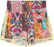 Shorts Canvas con Punto Smock