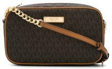 - Michael Michael Kors - Jet Set medium logo crossbody bag - women - cotone/PVC/fibra sintetica - Taglia Unica - color marrone