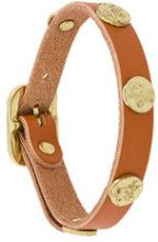 Il Bisonte - studded bracelet - women - Leather - OS - BROWN