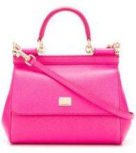 Dolce & Gabbana - Borsa a spalla piccola 'Sicily' - women - Leather - OS - PINK & PURPLE