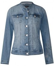 Cecil 210695, Giacca in Jeans Donna, Blu (Mid Blue Wash 30283), 54