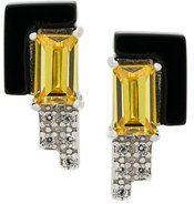 V Jewellery - Orecchini 'Lea' - women - Sterling Silver/Citrine - OS - METALLIC