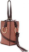 Nina Ricci - checked bucket shoulder bag - women - Calf Leather - OS - Rosa & viola