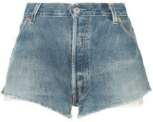 Re/Done - Pantaloni corti denim - women - Cotone - 26 - Blu