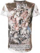 Balmain - T-shirt stampata - men - Cotone - S, M, L, XL, XS - Color carne & neutri