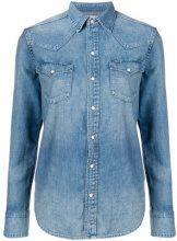 - Polo Ralph Lauren - classic fitted denim shirt - women - cotone - L - di colore blu