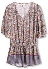 ESPRIT 086EE1F003, Camicia Donna, Multicolore (off White), 38