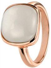 Elements Silver - Collana in argento Sterling con pietra di luna taglio Cabochon, placcato oro rosa, argento, 58 (18.5), cod. AZ-R3455N 58