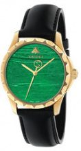 Gucci - Orologio 'Le Marché Des Merveilles 38mm' - women - Leather/Gold Plated Brass - One Size - Nero
