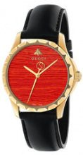 - Gucci - Orologio 'Le Marché Des Merveilles 38mm' - women - Gold Plated Brass/Leather - Taglia Unica - Nero