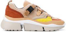 Chloé - Sneakers con platform e cinturino - women - Calf Leather/Suede/Neoprene/rubber - 38, 36, 40, 41, 39, 37, 35 - Color carne & neutri