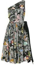- Prada - Vestito con stampa asimmetrica - women - Cotone - 42 - Multicolore