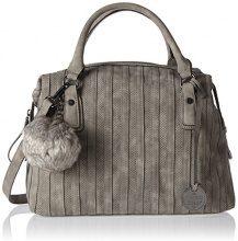Marco Tozzi 61018 - Borse a secchiello Donna, Grau (Dk.grey Antic), 38x26x16 cm (B x H T)