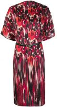 Salvatore Ferragamo - printed dress - women - Silk/Calf Leather - S, M, L - RED