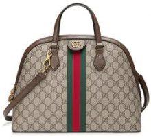 Gucci - Ophidia GG medium top handle bag - women - Leather/Nylon/Canvas/Microfibre - One Size - Color carne & neutri