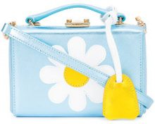 Mark Cross - daisy shoulder box bag - women - Leather - One Size - Blu